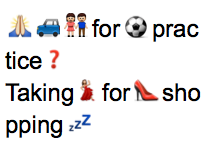 Bad line break in short lines with emoji