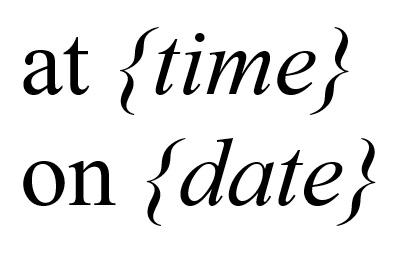 at time on date